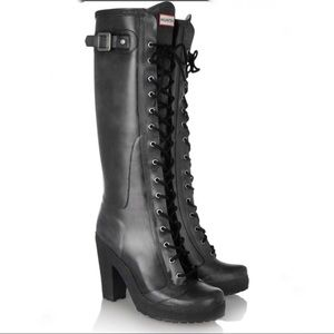 Hunter Lapins lace up rain boots